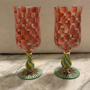 Mackenzie Childs tall water goblets